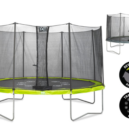 12.91.12.00 EXIT-Twist-Trampoline-12Ft-GREEN-GREY-1