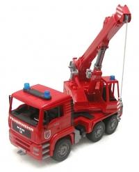 Spielzeug Kran MAN Feuerwehr LKW Kran
