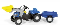 Rolly Toys New Holland T 7550 Frontlader mit Anhänger Spielzeug