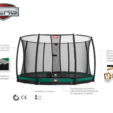 BERG In Ground Champion 270 + Safety Net Deluxe
